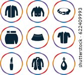 accessories icons set. set of 9 ... | Shutterstock .eps vector #622409993