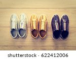 fashion shoes and sneaker on... | Shutterstock . vector #622412006