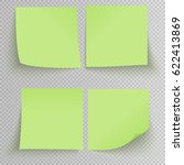 set of office green sticky... | Shutterstock .eps vector #622413869
