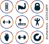 muscle icons set. set of 9...   Shutterstock .eps vector #622413899