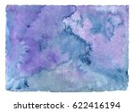 watercolor blue background.... | Shutterstock . vector #622416194