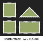 postage stamp templates. vector ... | Shutterstock .eps vector #622416308