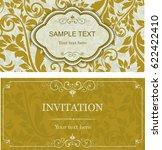 set of vintage invitation cards ... | Shutterstock .eps vector #622422410