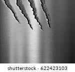 claw scratched marks metal... | Shutterstock . vector #622423103