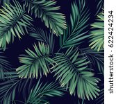 dark tropical background with... | Shutterstock . vector #622424234