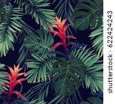 hand drawn seamless floral... | Shutterstock . vector #622424243