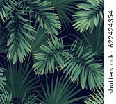 dark tropical background with... | Shutterstock . vector #622424354