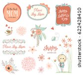 mother's day set with...   Shutterstock .eps vector #622428410