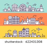 urban european white city with... | Shutterstock .eps vector #622431308