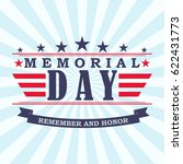 memorial day background with... | Shutterstock .eps vector #622431773