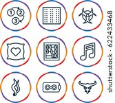 texture icons set. set of 9... | Shutterstock .eps vector #622433468