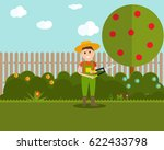 garden background vector... | Shutterstock .eps vector #622433798
