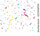 many falling colorful tiny... | Shutterstock .eps vector #622436954