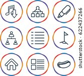 site icons set. set of 9 site...