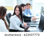 business and office concept  ... | Shutterstock . vector #622437773