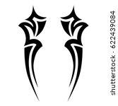 tribal tattoo art designs.... | Shutterstock .eps vector #622439084