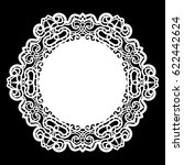 lace round paper doily  lacy... | Shutterstock .eps vector #622442624