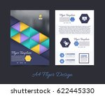 a4 flyer front and back... | Shutterstock .eps vector #622445330