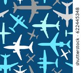 kids seamless pattern with... | Shutterstock .eps vector #622445348