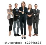 group of smiling business... | Shutterstock . vector #622446638