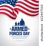 armed forces day template... | Shutterstock .eps vector #622447010