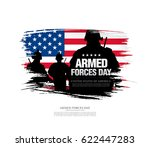 armed forces day template... | Shutterstock .eps vector #622447283