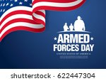Stock vector armed forces day template poster design 622447304