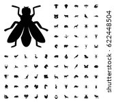 fly icon illustration isolated... | Shutterstock .eps vector #622448504