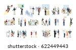 work in office set on white...   Shutterstock . vector #622449443