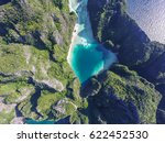 Top View Of Turquoise Lagoon I...
