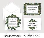wedding invitation flower card... | Shutterstock .eps vector #622453778