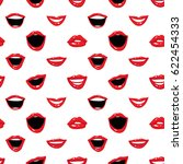 fashion seamless pattern with... | Shutterstock .eps vector #622454333