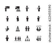 meeting and people icons set... | Shutterstock .eps vector #622455590