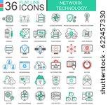 network technology modern... | Shutterstock . vector #622457330