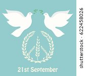 international day of peace... | Shutterstock . vector #622458026