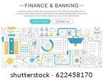 elegant thin line flat modern...   Shutterstock . vector #622458170