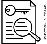 keywording tools vector icon  | Shutterstock .eps vector #622461536