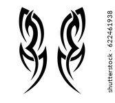 tribal tattoo art designs.... | Shutterstock .eps vector #622461938