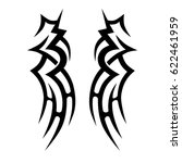 tribal symmetric pattern... | Shutterstock .eps vector #622461959