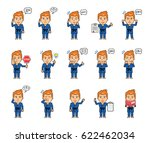 set of sportsman characters in... | Shutterstock .eps vector #622462034