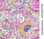 tracery seamless pattern.... | Shutterstock .eps vector #622463720