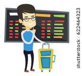 asian passenger waiting for a... | Shutterstock .eps vector #622464323