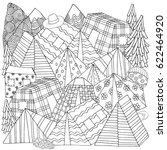 pattern for coloring book with  ... | Shutterstock .eps vector #622464920