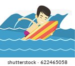 young asian man having fun... | Shutterstock .eps vector #622465058