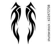 tattoo sketch tribal vector... | Shutterstock .eps vector #622472708