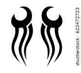 tribal symmetric pattern... | Shutterstock .eps vector #622472723