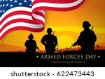 armed forces day template... | Shutterstock .eps vector #622473443
