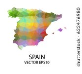 vector color map of spain ... | Shutterstock .eps vector #622476980