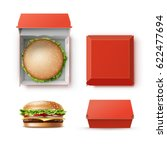 vector set of realistic empty... | Shutterstock .eps vector #622477694