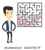 asian business man thinking... | Shutterstock .eps vector #622478174